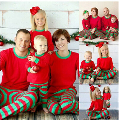 Children Adult Family Matching Christmas Pajamas Sleepwear Nightwear Pyjamas HOT
