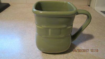 Longaberger Sage Woven Soft Square Mug Traditions  Pre-Owned