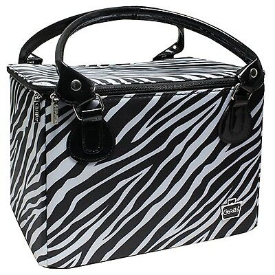 Caboodles Sweet & Sassy Large Tapered Tote Zebra Print