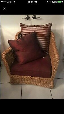2 Rattan Arm Chairs