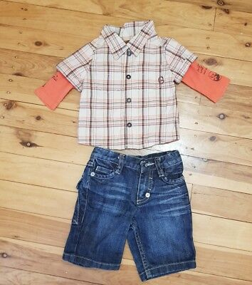 boys 0-3m 000 newborn genuine Guess and country Road outfit