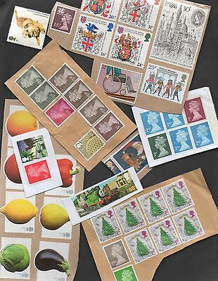 GB / UK - UNFRANKED stamps £70 in values + 11x1st + 12x2nd + more - see 4 scans