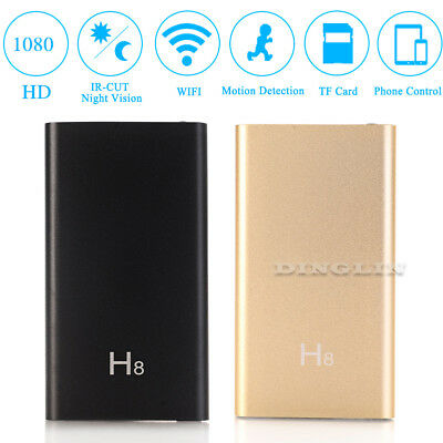 WIFI Wireless HD 1080P IP Mini SPY Hidden Camera 3700mA Battery Power Bank DVR
