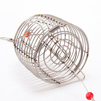 3 Size Lure Bait Cage Stainless Steel Wire Fishing Trap Basket Feeder Holders