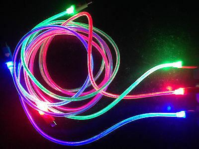 Micro USB LED Visible Light Cable Charge Data Sync for Android  Smart Phone NEW