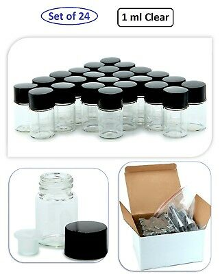 1ml Clear Glass Bottles Cosmetic Jar Cream Makeup Essential Oil Sample Container