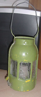 alte FEUER HAND Sturmlampe Stall Lampe   Hand Lampe  Laterne