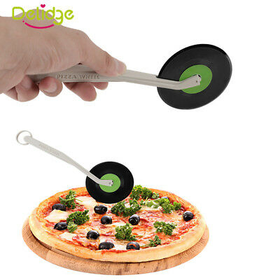 Stainless Steel Record CD Shape Pizza Serrated Knife Scraper Cutter Kitchen Tool