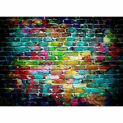 5x3FT Colorful Brick Wall Backdrop Studio Photography Props Photo Background
