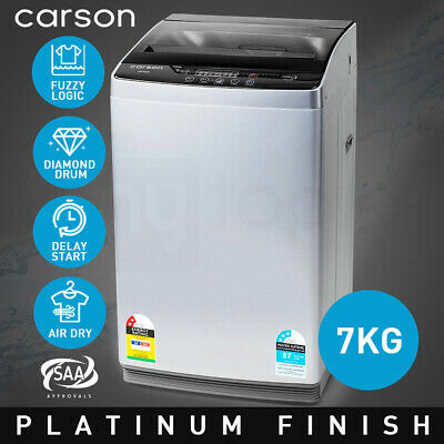 NEW CARSON Washing Machine 7kg Platinum Automatic Top Load Home Dry Wash