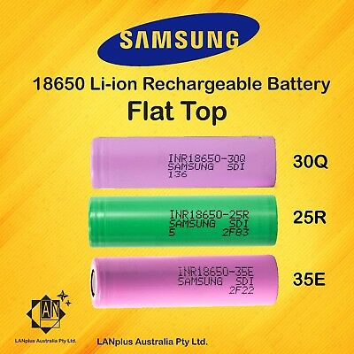 Genuine Samsung INR18650 25R 30Q  35E HIGH CURRENT Rechargeable li-ion batteries
