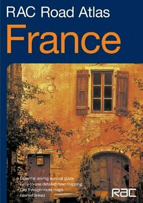 RAC Road Atlas France Paperback Book The Cheap Fast Free Post