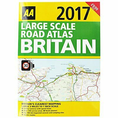 Large Scale Road Atlas Great Britain 2017 Book The Cheap Fast Free Post