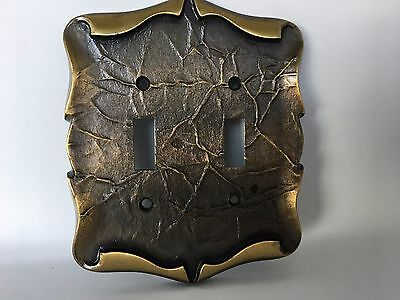 Amerock Vintage Double Light Switch Plate Carriage House Antique English Brass