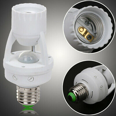 E27 LED Lamp Bulb Holder Light Socket Switch Infrared PIR Motion Sensor 110-240V