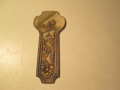 Vintage Die Cut Religious BookMark With Best Wishes Book Mark Key shaped