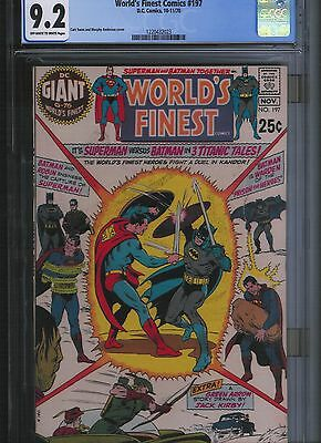 World's Finest Comics # 197 CGC 9.2 Off White to White Pages. UnRestored.