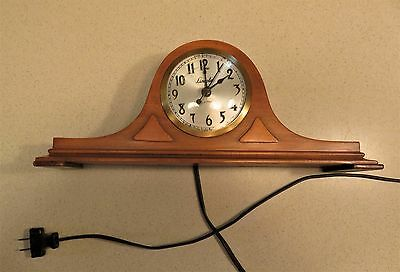 VTG Lincoln Mantle Clock  ~ 1930s Spin Start  Runs
