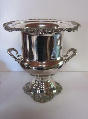Vintage Wallace Baroque Heavy Silver Plate Wine Cooler Champagne Bucket