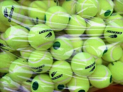48 Stage 1 Low Compression Tennis Balls. 25% Slower Ball For 9-10 Age Players