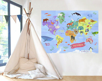Harriet Bee Donny Animals Around The World Wall Decal
