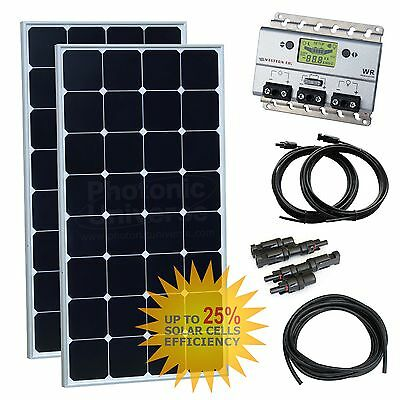 200W (100W+100W) solar panel kit (Back-Contact Solar Cells) for Motorhome + RV