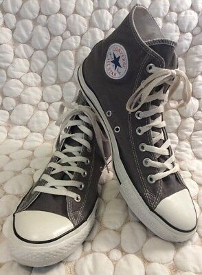 CONVERSE ALL STAR GRAY CANVAS HIGH TOP SNEAKERS SHOES MEN'S Sz 10