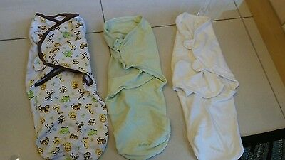 Swaddle Me 3-6 months Wrap Baby Swaddling Blanket Sleeping Bag Cotton 3 Pack