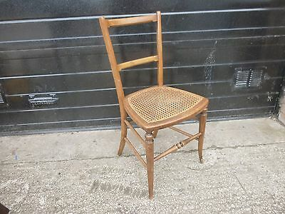 Vintage chair - 1 Mahogany Cane Woven Seat chair
