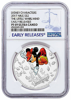 2017 Niue Disney Mickey Ages Whirlwind 1 oz Silver $2 NGC PF69 UC ER SKU48560