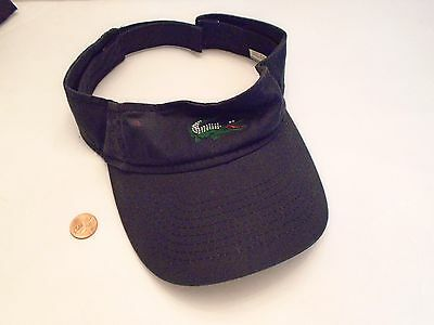 LACOSTE Embroidered Visor Cap Hat Adjustable Strapback Blue with Alligator Logo