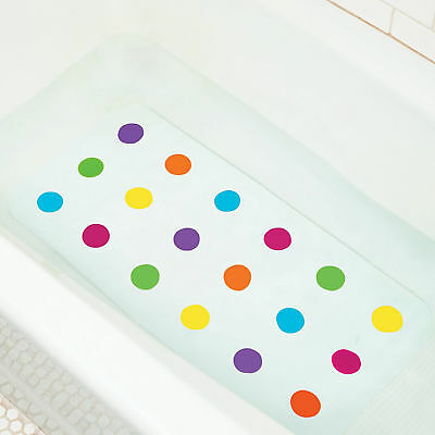 Bath Mat Baby Dandy Dots Munchkin Nin Slip Anti Safety Colourful Surface Toddler