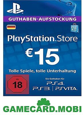PlayStation Network 15 EUR Card Code DE PSN PS4 PS3 - Guthaben 15€ Key - 15 EURO