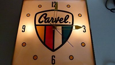 vintage pam advertizing clock Featuring Carvel Ice Cream Great condition