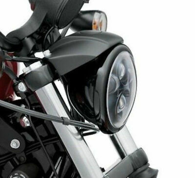 """Gloss Black 5.75"""" Replacement Headlight Trim Ring Harley Dyna Sportster Softail"""