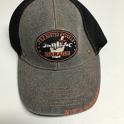 Mens New The Busted Knuckle Garage Mechanic Cap