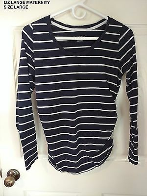 Maternity Long Sleeve Tops Size Large (Lot of 3)
