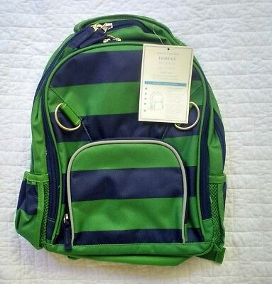 New Pottery Barn Kids boys SMALL Fairfax backpack , no monogram, navy green