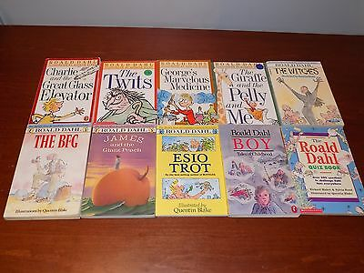 Lot of 10 Roald Dahl books - paperback - Twits, Witches, BFG, James & Giant Peac