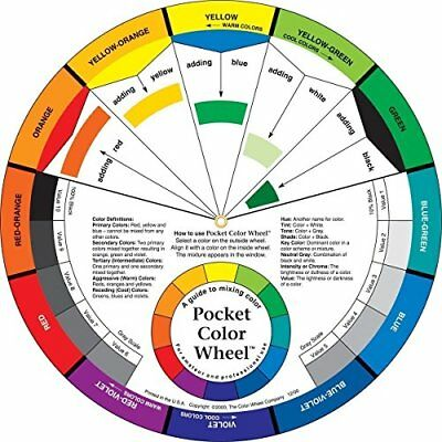 Pocket Colour Wheel 13cm. Compact Paint Mixing Learning Guide. Art Class