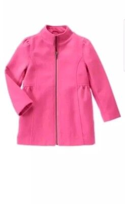 NWT GYMBOREE FAIR ISLE FLURRY PINK PEACOAT JACKET Coat 7 8 Girls