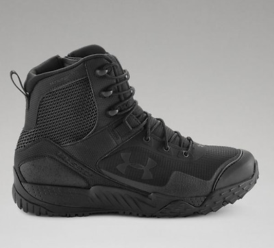 Under Armour UA Mens Black VALSETZ RTS Side Zip Tactical Boots New!