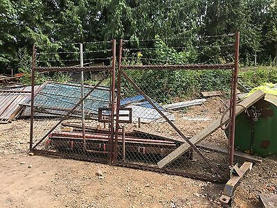 Used steel security gates – site gate – yard gate – 4.3m wide x 2.3m high