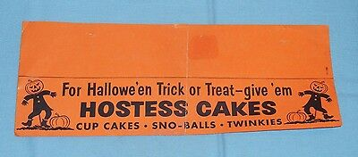 vintage HOSTESS CAKES HALLOWEEN SIGN store display sno-balls twinkies cupcakes