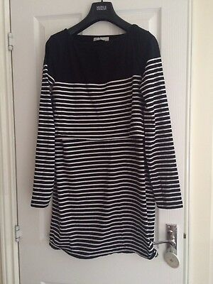 Jojomaman Nursing Breton Dress Size M