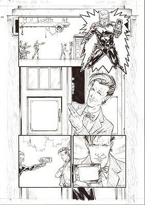 Boo Cook   DR WHO  4p12    original drawing       2000AD