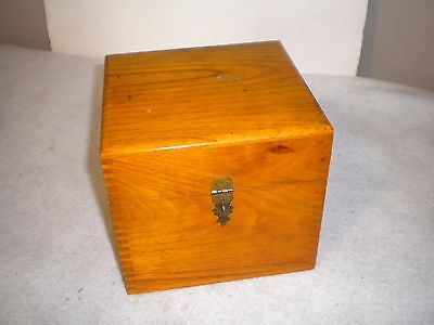 """Vintage Dove Tailed Wooden Photography Box Nega File Co 6.5"""" square"""