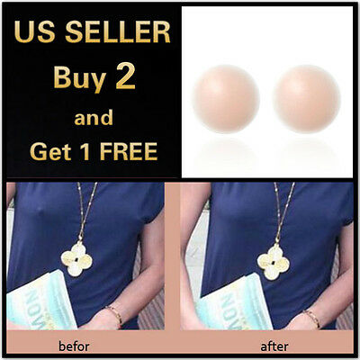 One Pair of Soft Silicone Adhesive Nipple Cover sticker invisible bra