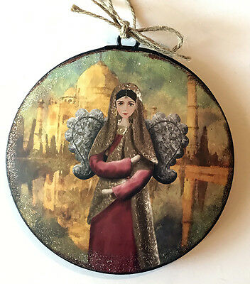 Angel Disc Christmas Tree Ornament International Holiday Decor