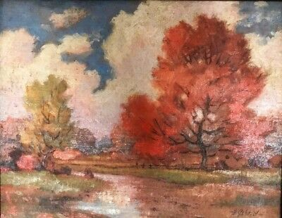Painting By K. Gabriel early 20th century Oil Landscape
